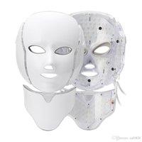 7 색 LED 마스크 LED 광자 얼굴 라이트 마스크 목 치료 피부 젊 어 짐 얼굴 리프팅 안티 여드름 주름 스킨 기계