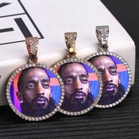Yeni Özel Fotoğraf Bellek Madalyonlar Katı Kolye Kolye Tenis Zinciri Ile Hip Hop Takı Kişiselleştirilmiş Kübik Zirkon CHainsGift Y1220