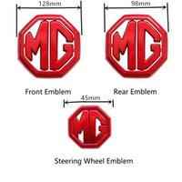 Mg ZS Yeni Araba Ön / Arka Amblem Çıkartmalar Çıkartmaları Direksiyon Amblemi Sticker Otomobil Dış Dekorasyon Aksesuarları