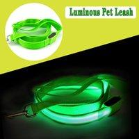 LED leuchtende Leine für Haustiere glühende Nylon-Haustier-Gurte für Hunde und Katzen-Haustierversorgung Großhandel