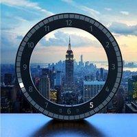 USB светодиодные цифровые настенные часы современный дизайн Двухместный Dimming цифровые круговые фоторецептуальные часы для украшения дома