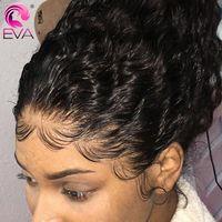 Глиняные парики вьющиеся вьющиеся фронтальные парики для волос Precucked 13x4 / 13x6 Front Front для чернокожих женщин бразильский Джерри скрученный парик