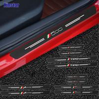 4 stücke Kohlefaser Auto Tür Sills Wachen Aufkleber für Fiat Panda 500 500x 500l Tipo Punto
