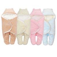 4 ألوان الطفل كيس النوم مغلف للوليد 0-6months الخريف الشتاء الدافئة الطفل النوم أكياس الوليد الطفل قماط التفاف بطانية W1218