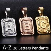Trendsmax الأولي A-Z إلكتروني قلادة سحر روز الذهب والفضة اللون كابيتال إلكتروني قلادة للنساء الرجال الأزياء والمجوهرات KGPMM01 Y1220