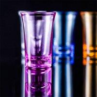 Copa de acrílico de copa de vidrio KTV Copa de Juego de Boda para Whisky Vino Vodka Bar Club Cerveza Copa de Vino 35ml Botella de regalo EE2834