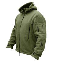 Han vahşi kış airsoft askeri ceket erkekler polar ordu taktik ceket termal kapüşonlu ceket ceket giyim hoody erkek giyim 201111