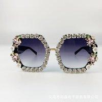 선글라스 브랜드 디자인 수제 라인 석 광장 패션 안경 여성 꽃 진주 라운드 빈티지 비치 파티