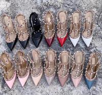 2021 Designer Sandalen Spikes High Heels 2-6-10 cm Echtes Leder Sexy Kleid Schuhe High Heels Frauen Schuhe Nackte Schwarz Pump Patent Strap Shoes