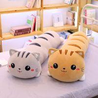 Giant Lovely Lying Cat Peluche Giocattolo morbido cuscino lungo carino bambole animali ripieni di animali regali per bambini ragazze natale compleanno