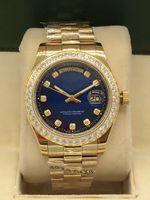 Melhor venda moda clássico homens 41mm manipulador automático manipulador pequeno diamante de aço inoxidável dobrável fivela impermeável homens relógio