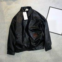 남자 자켓 desinger 겨울 긴 파카 패션 남자 겨울 의류 윈드 브레이커 롱 다운 코트 가죽 자켓