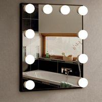1 шт. Ванная комната Туалетный столик Светодиодный Макияж USB Круглый Ламп Настенные Лампы Ванета Косметический Зеркальный Свет для Украшения дома