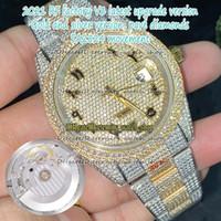eternity v3 upgrade versão 126331 126334 116333 Árabe Diamantes Discar ETA A2824 Mens Automático Assista Dois Tom 904L Aço Gelado Full Diamond