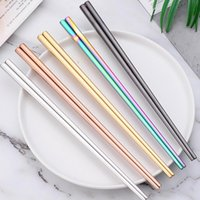 Glossy Titanium Plated Chopsticks Anti Scalding High- grade 3...