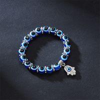 Männer Frauen Eye Armband Schmuck Dame Chamilia Perlen Handgemachte Webart Legierung Mode Elastische Charme Kette 2 57YH J2
