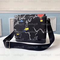 고품질 남성 메신저 가방지도 디자인 남자 크로스 바디 숄더 가방 새로운 패션 학교 가방 Bookbag 5 종류 인쇄