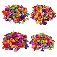 100 pz Sweet Colorful Heart Heart Laterale Plastica Forcine per bambini Ragazze Farfalla Bowhair Clip Accessori per capelli Accessori per capelli Rana Bows Capelli Barrettes LJ201226