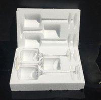 Soportes de velas de cristal para velas 3 unids 1set Tabla Centerpiece para la decoración de la cena de boda Decoración de la mesa de cera de vidrio de patas alta KKA8318