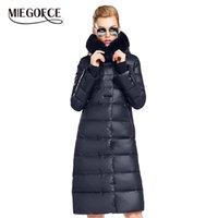 Miegofce женские пальто куртки средней длины женщин парку с кроликом мех зима толстым пальто женщин новая зимняя коллекция горячая 201210