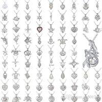 Perlenkäfig Anhänger Halskette Liebe Wunsch Natürliche Perlenmix Design Mode Hohl Medaillon Schlüsselbein Kette Diffusor Halskette für Frauen