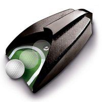 Kulüplerin Komple Set Golf Otomatik Top Geri Dönücü Elektrikli Atıcı Eğitmen Geri Ball1