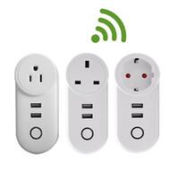 Prise de chargeur USB WIFI Smart Plug Wirlid Puissance Smart Prise de prise Smart Sortie WiFi Télécommande Minuterie Ewelink Smart Chargeur Alexa Google Accueil