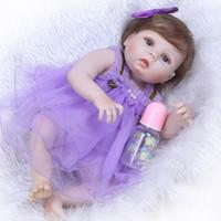 57cm corps en silicone en silicone en silicone bébé reborn poupées réaliste 23 pouces nouveau-né nouveau-né rebron jouets pour filles