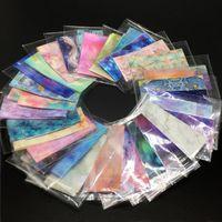 Etiketler Çıkartmaları 20/30/50 Rulo Çivi Folyo Mermer Taş Tasarım Manikür Yıldızlı Nail Art Transfer Kağıt için Set