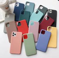 DHL 200pcs 울트라 슬림 캔디 색상 전화 케이스 소프트 TPU 커버 아이폰 12 Pro max for iphone 11 프로 최대 xs 최대 xr x 8 플러스 핸드폰 케이스