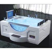 USA Indoor Waschmaschine Whirlpool SPA Massage Doppelwhirlpool Badewanne Einweichen, Heizung, LED, Anzeige, LCD-TV
