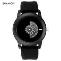 Наручные часы Boamigo мужские Часы Чрезвычайно простые Кварцевые Часы Мода Повседневная Резина 2021 Креативный Подарок Clcok Relogio Masculino1
