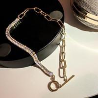 Chokers Мода Геометрическое Кристалл Ожерелье для Женщин Топ Дизайнер Роскошные Ювелирные Изделия Шеи Шеки Высокое Качество Циркон Подарок