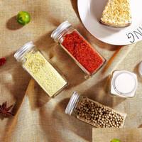 Spice Jars مطبخ منظم تخزين حامل الحاويات زجاجات توابل الزجاج مع غطاء أغطية التخييم يخدع bbympu packing2010