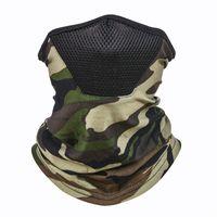 Camuflagem face máscara homem dobrável outdoors motion proteger vazio livre cachecol anti-poeira pesado pescoço pescoço gaiter reutilizável 4 5yt n2