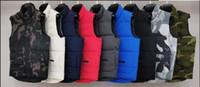 2020 Moda Marka Erkek Kış Yelek Lüks Klasik Aşağı Yelek Tasarımcı Parka Mont Kalın Ceket Katı Fermuar Kolsuz Luoluone Coat