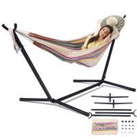 Hängematte mit Stand Swinging Stuhl Bett Reise Camping Haus Garten Hängende Bett Jagd Schlafendes Schwingen Indoor Outdoor Möbel Z1202
