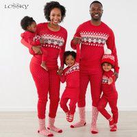 Kadın Eşofman Kadınlar Için İki Parçalı Kıyafetler Sonbahar Kış Moda Noel Ev Erkek Bebek Giysileri Pijamas Takım Elbise Eşleştirme Setleri 2021