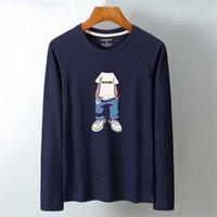 Luo ka мужской хлопок с длинным рукавом напечатанный дизайн мода один размер с длинным рукавом футболка модель: KL-49.99 201116