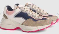 2020 RHYTON chaussures hauteur de la langue augmentez les bottes de baskets rouges chaussures de papa Papa-de-chaussée Geninue Cuir taille US5-US10 avec boîte