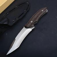 특별 제공 고정 블레이드 야외 전술 사냥 나이프 AUS-8 블레이드 대마 손잡이 생존자 칼