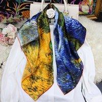 Scarpa sciarpe 100% sciarpa di seta Donne dipinti dipinti di fascia alta primavera autunno pure estate reale estate regalo di bandana