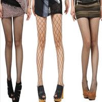 Calzature a vita alta da donna calze a rete sexy maglia coscia alta pantyhose nera colorata super elastica tessuto