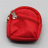 Bella bambola cambio vestiti zaino BJD Small SchoolBag Doppia ponte Zipper Pocket Pocket Bambole Bambole ACCESSORI NUOVO 3 7SJH1