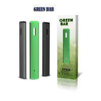 Green Bar Vaporizador Starter Kit Descartável Vape Pen E-Cig Dispositivo Vazio E-Cigarro E-Cigarro
