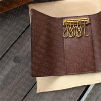 HH M60701 키 파우치 Pochette Cles 디자이너 패션 여성 망 열쇠 고리 신용 카드 홀더 동전 지갑 럭셔리 미니 지갑 가방 매력 브라운