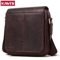 Kavis New Messenger Bag Мужская плеча натуральная кожаная кожаная кожаная мода для мужчин с кровавому бизнесу Бизнес и путешествия для мужчин