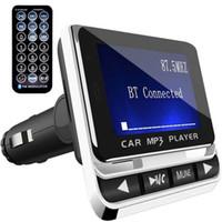 핸즈프리 무선 블루투스 자동차 키트 지원 TF 카드 라인 - AUX FM12B와 블루투스 자동차 MP3 FM 송신기 MUISC 플레이어