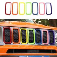 ABS Front Mesh Grille Inserts Couvre-grille Garniture Sept couleurs pour Jeep Renegade 2019-2020 Auto Extérieur Accessoires