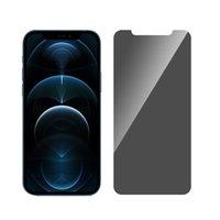 Vollständige Abdeckung Privatsphäre gehärtetes Glas für iPhone 12 Mini 11 PRO MAX XR XS 7 8 Plus Screen Protector mit Papierverpackung